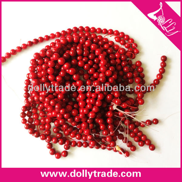 13mm Latest Design Red Coral Round Bead Strand
