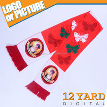 Sublimation print 100% polyester scarf customized made UAE National Day scarf