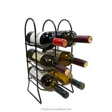 Black Powder Coating Metal Beer Bottle Storage Rack Iron Wine Holder