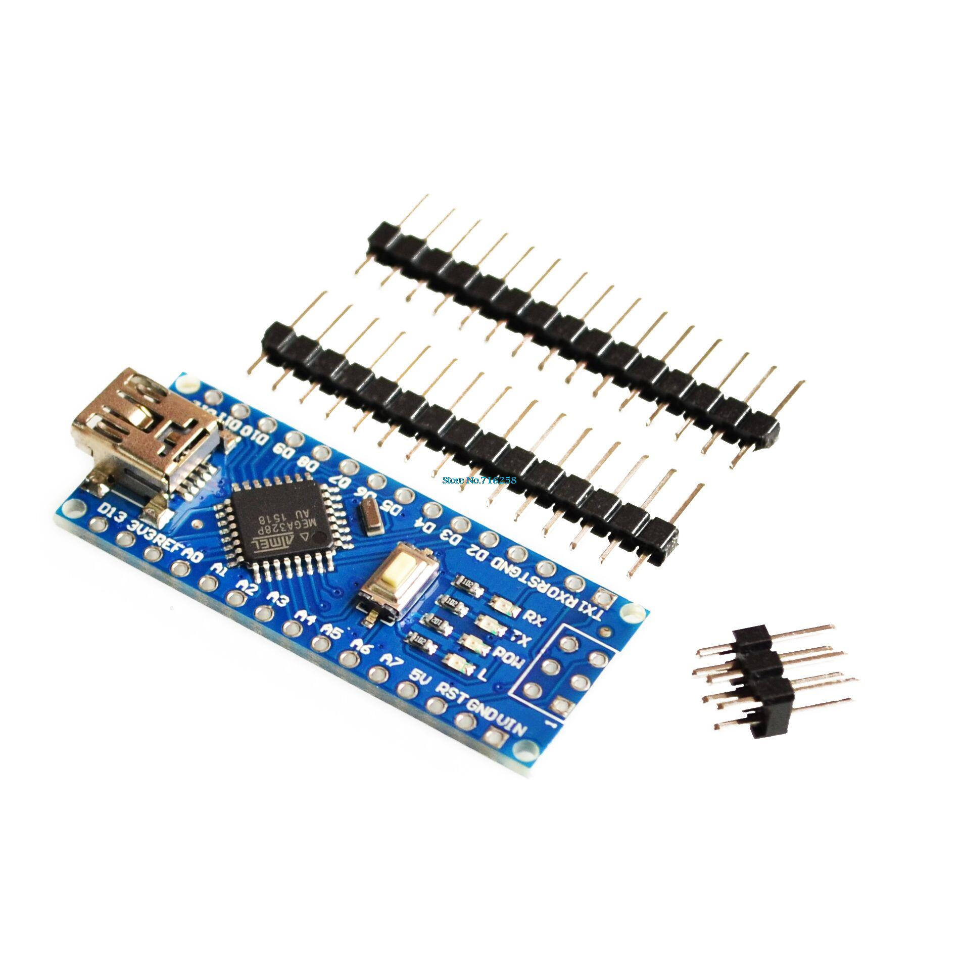 Wholesale-Freeshipping ! 5pcs Nano 3 0 controller compatible with for  arduino nano CH340 USB driver NO CABLE NANO V3 0
