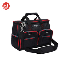 Custom black utility polyester shoulder electrician tool kit bag