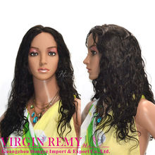 Human hair lace wig,pretty brazilian hair