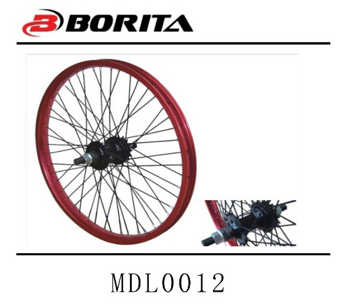Best Selling 20inch Colored aluminum bicycle alloy wheel rims and hub Staineless Steel Spoke Wheels