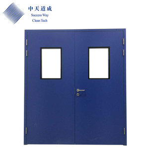 Steel Plate Easy Clean Swing Door For Cleanroom