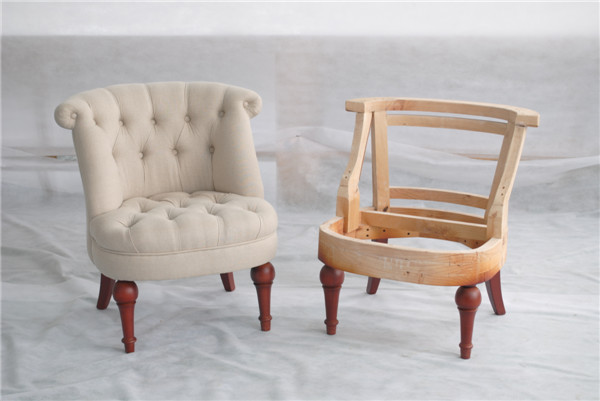 French Script Chair/oak Wood Rocking Chairs/indonesian Furniture Lazy Chair