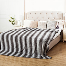 heavy handmade double side warm jacquard 100% polyester oversized plush throw blanket