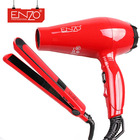 ENZO Professional portable hot manufacturer mini travel hair care 2 in 1 red color salon electric hair straightener and dryer