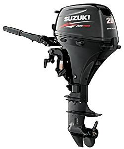 "Suzuki 20 HP 4-Stroke EFI Outboard Motor Tiller 20"" Shaft Electric Start"
