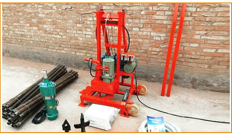 200m Portable Full Hydraulic Diesel Water Well Rig 200mm Diameter Drilling Machine for Sale