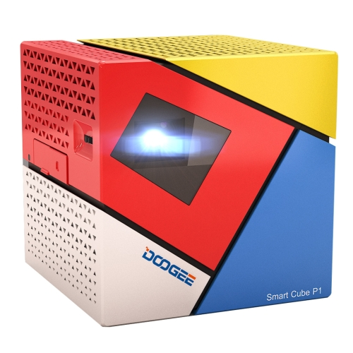 DOOGEE Smart Cube P1 Mini WiFi Smart LED <strong>Projector</strong>, Contrast Ratio: 800:1, 1GB + 8GB