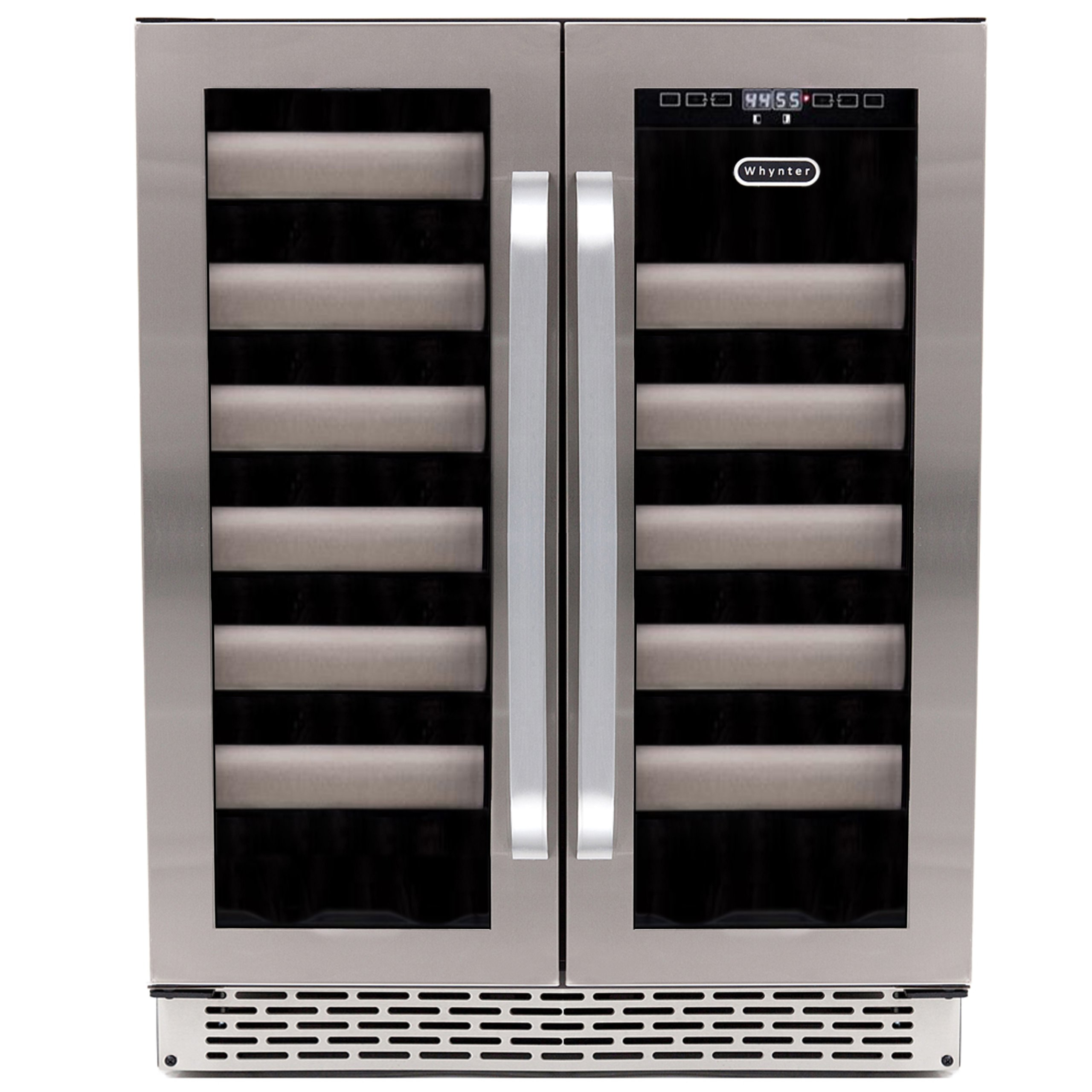 Whynter BWR-401DS Elite 40-Bottle Seamless Stainless Steel Door Dual Zone Built-in Wine Refrigerator