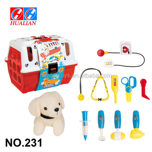 Kid Plush Pet Toy Dog With Doctor Play Set