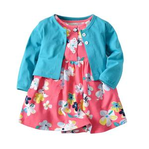 R&H Spring Baby Clothes Newborn Girl Customized Cotton Autumn Outfits Cheap Baby Girl Clothes Sets