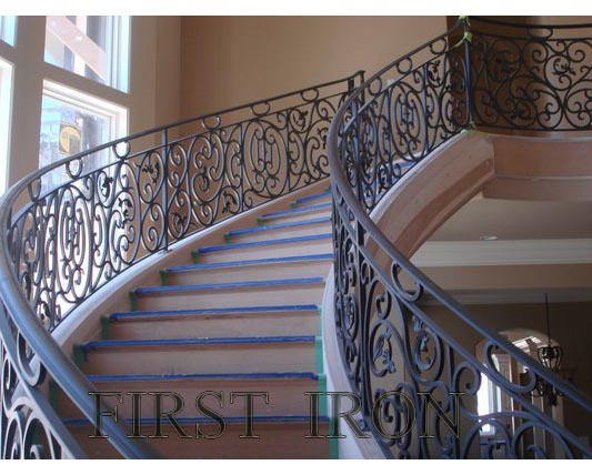 Curved Wrought Iron Stair Railings, Curved Wrought Iron Stair Railings  Suppliers And Manufacturers At Alibaba.com
