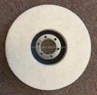 Top quality wool buffing pads with velcro backing
