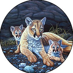 Mountain Lion & Cub Spare Tire Cover for Jeep RV Camper VW Trailer etc(Select popular sizes from drop down menu or contact us-ALL SIZES AVAILABLE)