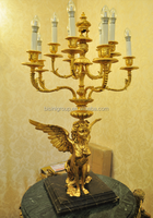 Classic Antique Baroque Brass Angel Table Lamp with Candles BF11-05283b