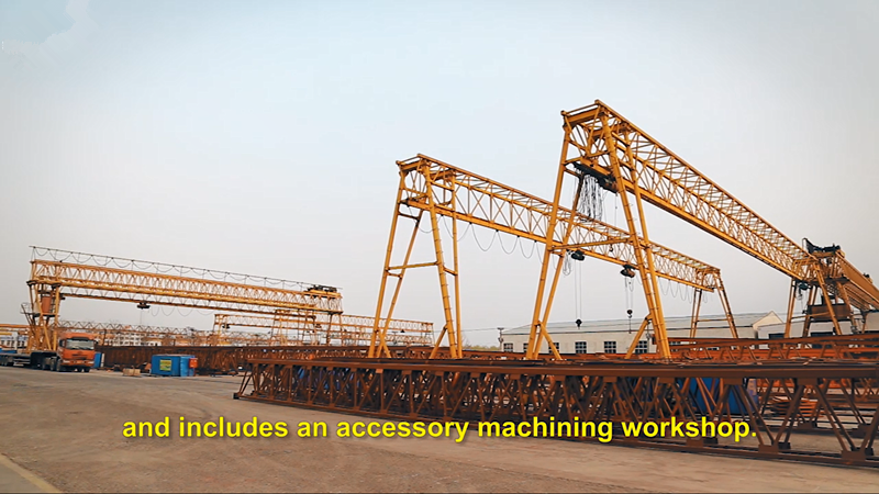 100 ton mobile highspeed railway double truss gantry crane for sale