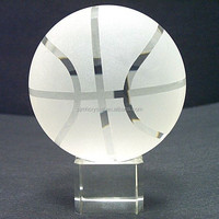 crystal basketball for team souvenir MH-SQ077