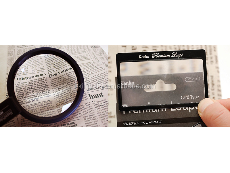 fashion design colorful plastic 100x magnifying glass business cards wall mounted lighted magnifying glass bookmark