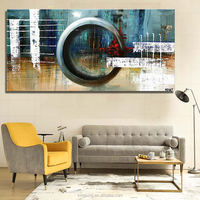 Free shipping hot sell 100% hand made abstract canvas oil paintings for wall decor