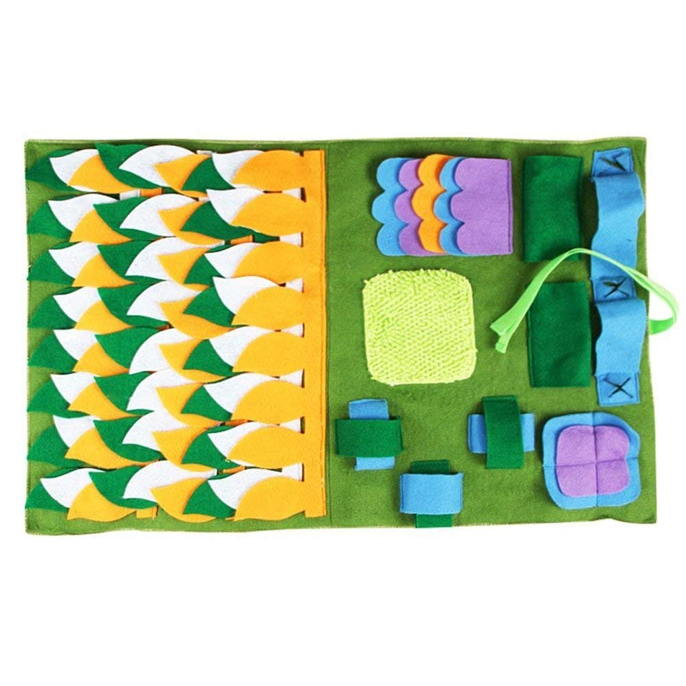 RONSHIN Washable Dog Playing Mat Blanket Decoration Pet Toy Pet Smell Training Mat (Light Green)