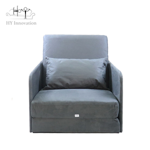 Folding single chair /leisure sofa bed /metal single sofa manufacturer in China