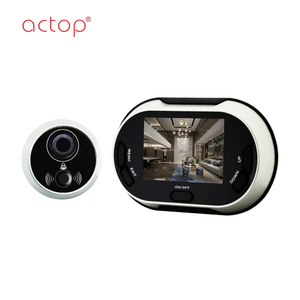2018 Best quality doorbell camera digital door smart digital peephole viewer easy install