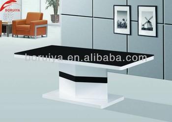 Black Glass Centre Table Designs For Living Room Furniture