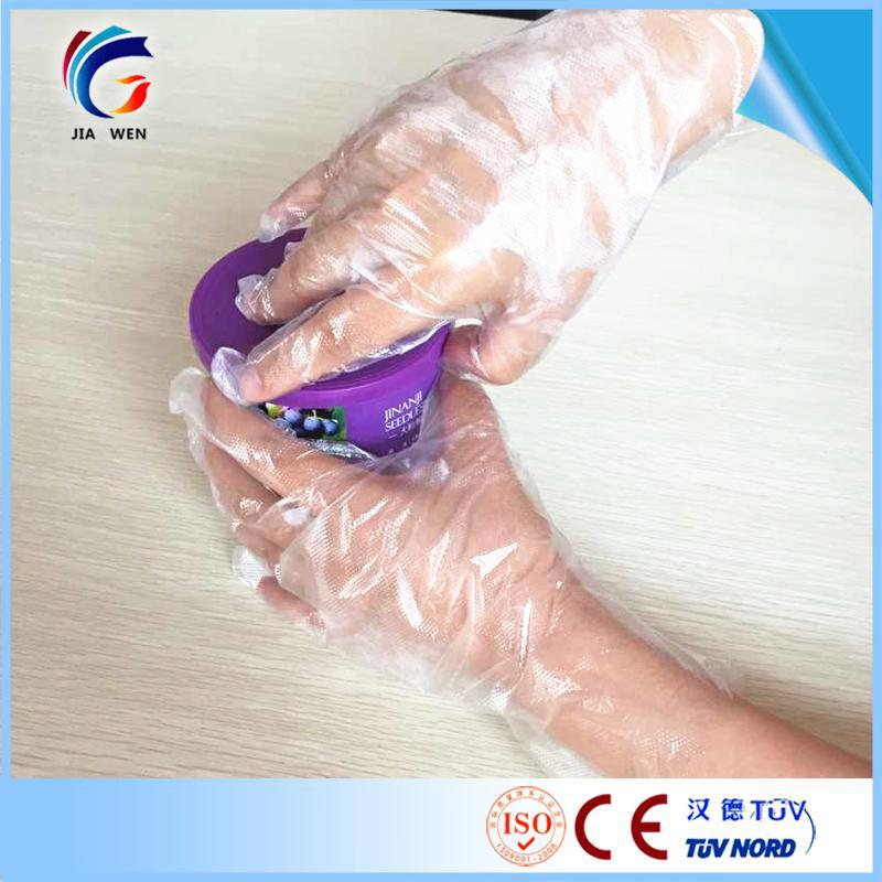 On time ETD Hairdry using disposable transparent gloves textured
