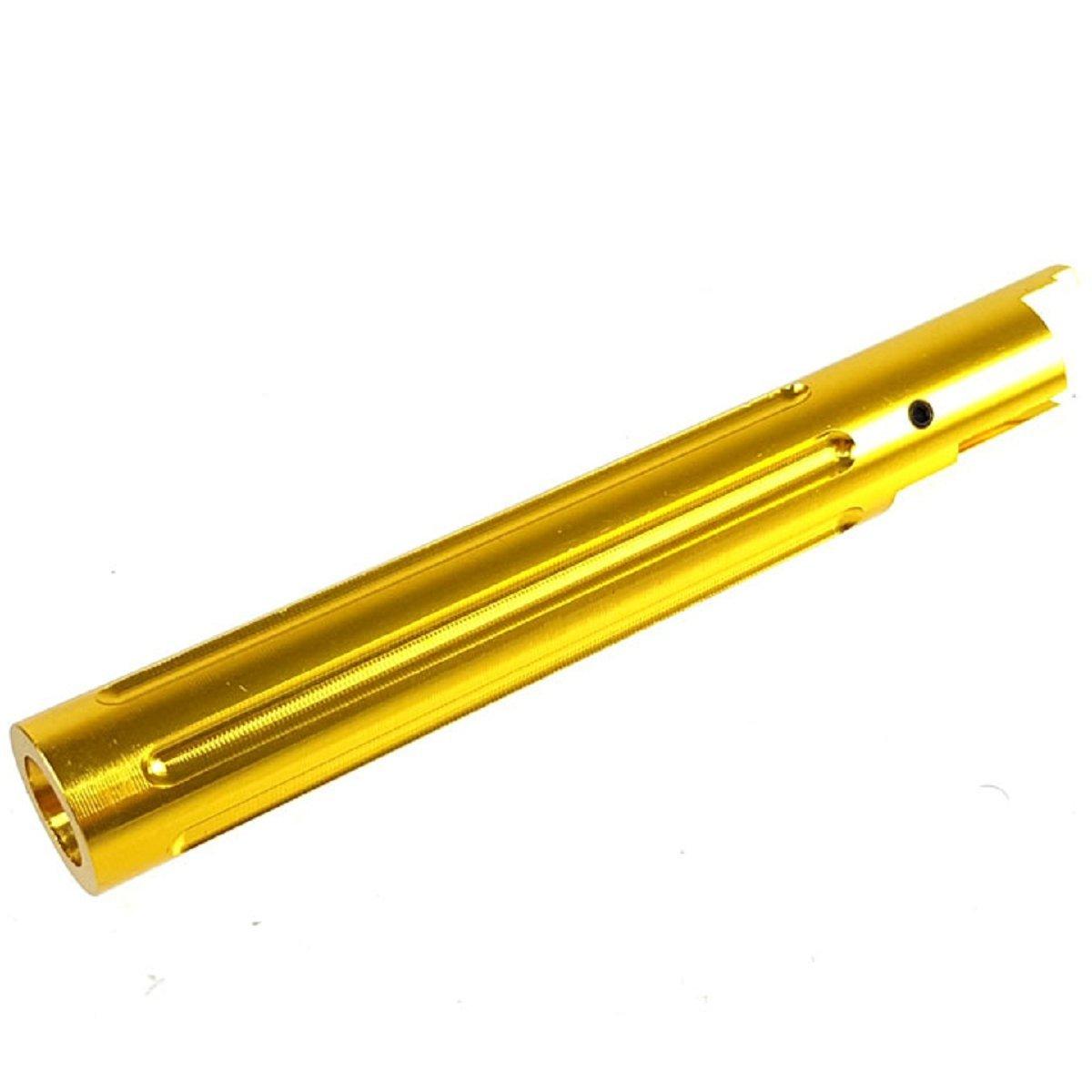 Airsoft 5KU Non-Recoil Spiral Outer Barrel For Hi-Capa 5.1 GBB Silver