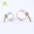 spring steel double drop wires hose clamping clips for rope