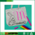 6 color fabric marker pen DIY coloring tote bag kids art craft for mother's day gift