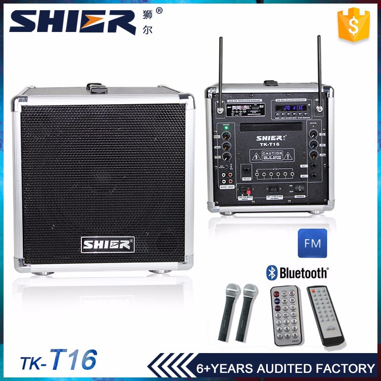 2.0 Channels 8 Inches CD Player Bluetooth Loudspeaker Karaoke