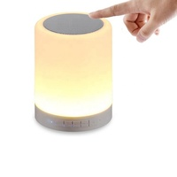 Table Lamp Portable Bluetooth Speaker with LED Night Light Dimmable Bedside Lamp with Touch Button RGB Color Changing
