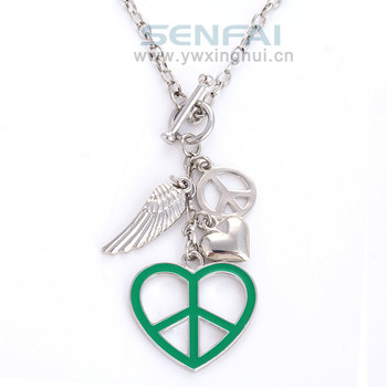 Sign charm necklacelove heart peace symbol pendant necklaceangel sign charm necklacelove heart peace symbol pendant necklaceangel wing trinket charm corrente aloadofball Images