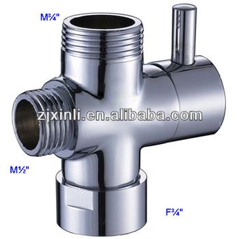 Gentil Brass Diverter, Shower Kit Water Separate Water Diverter, M3/4u0026quot; M1
