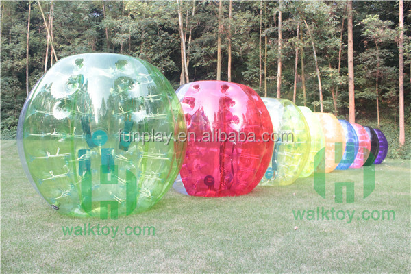 Hot Sale Half Color TPU Giant Human Inflatable Bubble <strong>Ball</strong> for Football