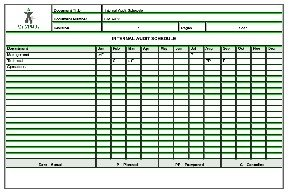 supplier audit plan template - internal audit schedule sample templates buy sample