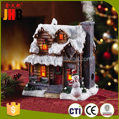 2016 resina de navidad casa de pueblo de navidad para la for Decoracion del hogar en navidad