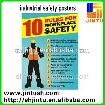 High Quality Industrial Safety Posters Stickers Decals
