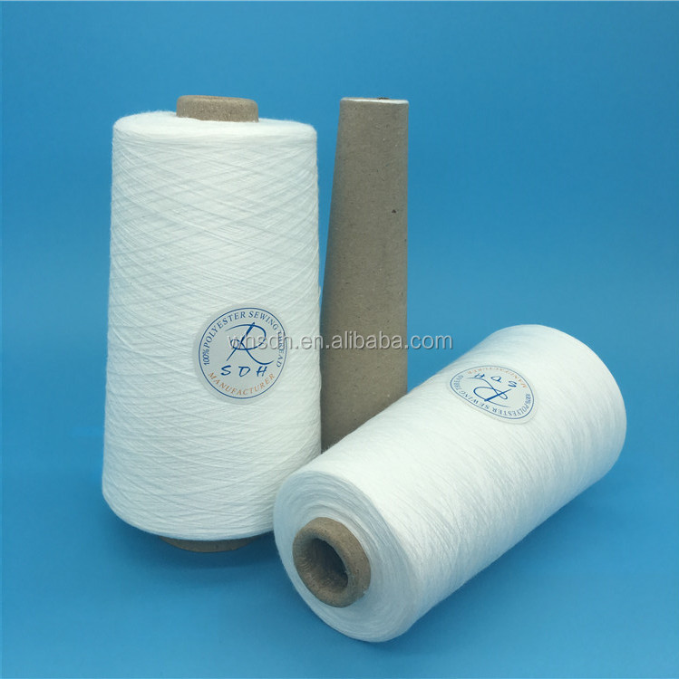 42s/2 100 pct polyester textile paper cone yarn made in China