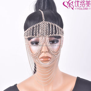 Facemask Chain Women Head Chain Jewelry Wholesale Head Piece Chain Jewelry FMC0911E