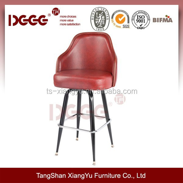 metal affordable swivel logo bar stool