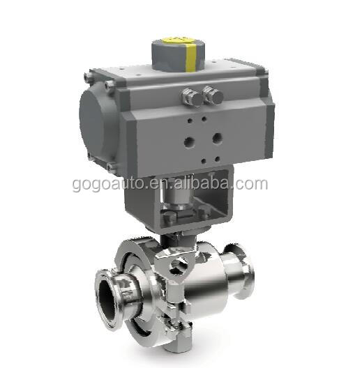 pneumatic Air Soft Seal Butterfly ball valve with pneumatic actuator