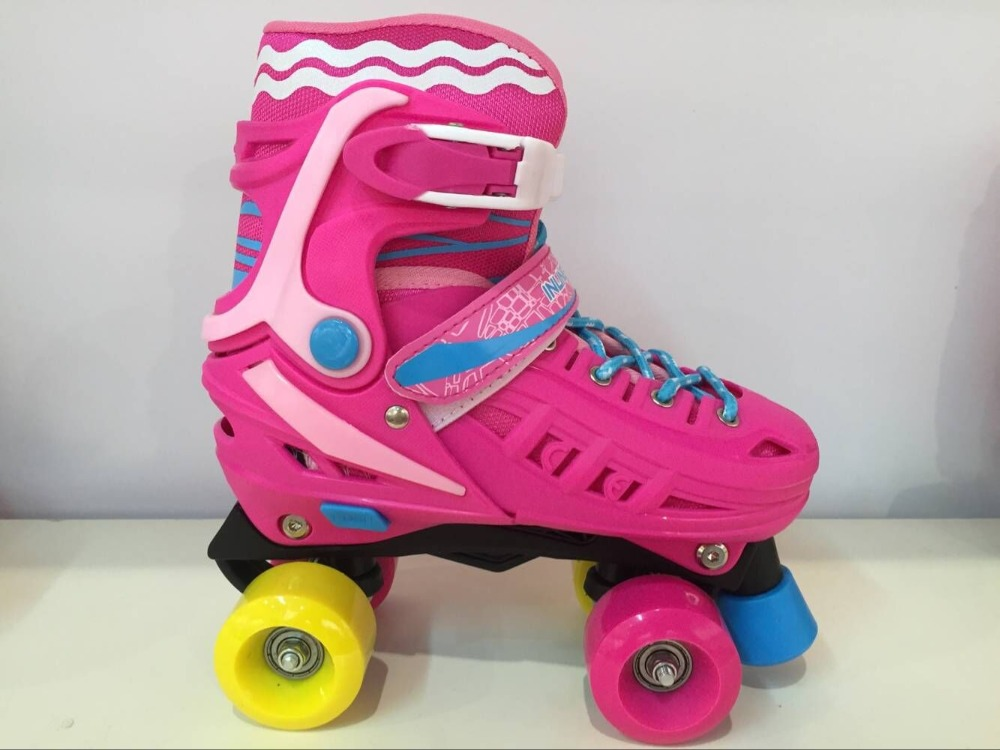Flash Adjustable Youth Quad 4 Wheels Roller Skates/skating boots
