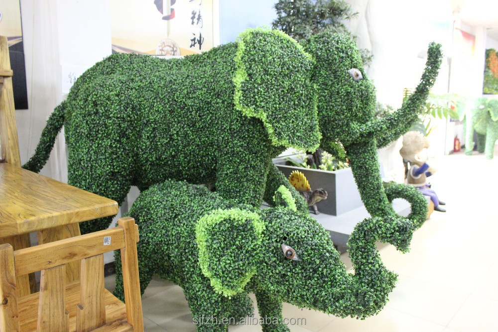 Decoracion jardin alambre animales hechos en china