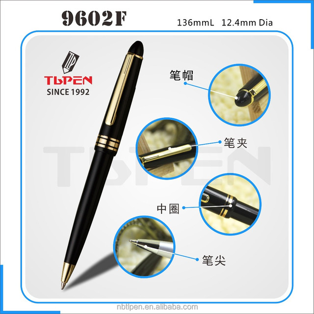 2017 new hot-selling cheap plastic ball pen,mont black pen with customized logo