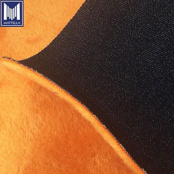 stock wholesale low price fleece bonded denim upholstery cotton jean fabric denim fabric in guangzhou