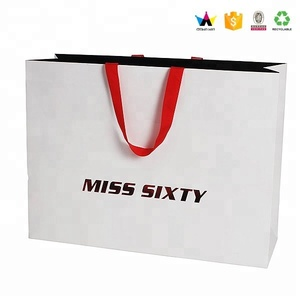 Wholesale Custom Elegant Shopping Paper Gift Bag For Clothes